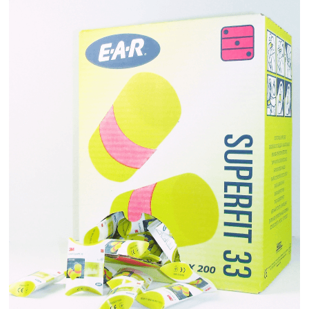 200 Paires de Protection Auditive EAR SuperFit 33