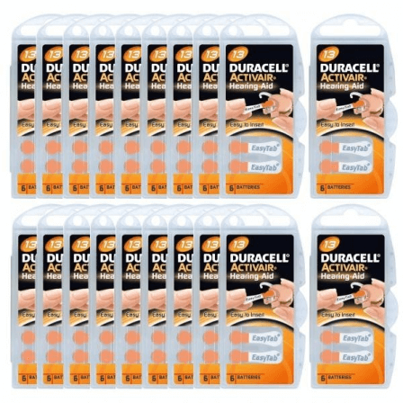 Piles Auditives Duracell 13 - lot Vingt