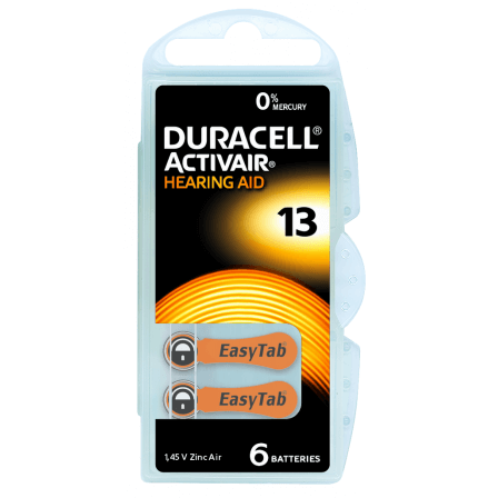 Piles auditives Duracell Activair 13