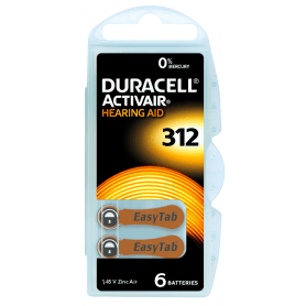 Piles auditives Duracell Activair 312