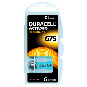 Piles auditives Duracell Activair 675
