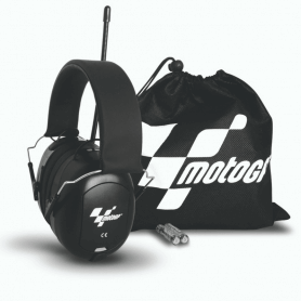 Casque Radio Officiel Moto GP Protection auditive EarFun Pro Radio pochette de transport Moto GP
