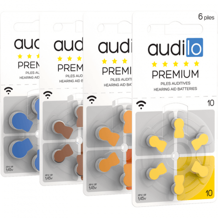 6 Piles Auditives Audilo Premium (10 - 13 - 312 - 675)