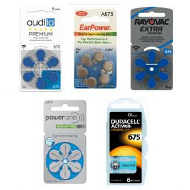 PACK d'ESSAI Piles Auditives 675 Classique Zinc Air Audilo Premium, EarPower, PowerOne, Duracell, Rayovac