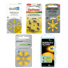 PACK d'ESSAI Piles Auditives 10 Audilo Premium, EarPower, PowerOne, Duracell, Rayovac