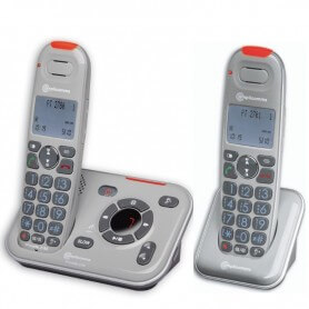 Téléphone amplicommes PowerTel 2780 Duo fixe combiné additionnel senior grosses touches amplificateur sonnerie volume