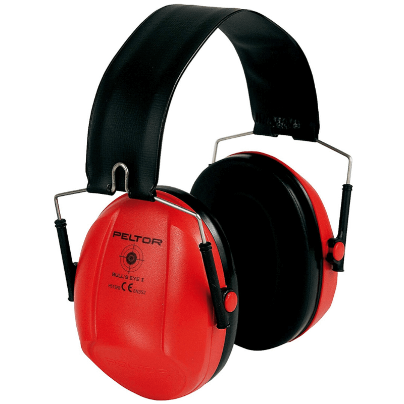casque rouge atténuation 31 DB peltor bull's eye 2