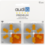 120 Piles Auditives Audilo Premium de type 13 (doubles plaquettes)