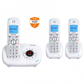 Telephone sans fil senior Alcatel XL585 voice trio