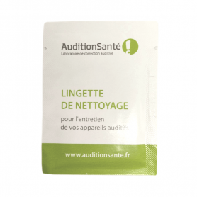 lingettes nettoyantes aides auditives